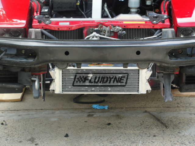 Fluidyne heat exchanger for turbo install pictures.