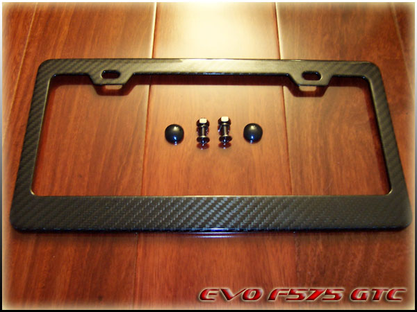 re carbon fiber license plate frame