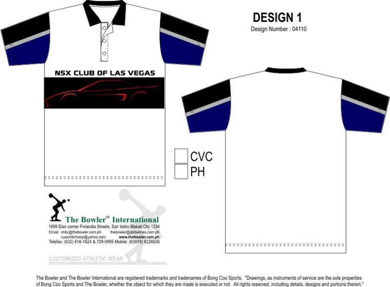 NSX Club of Las Vegas (Club T-Shirt Design 1)