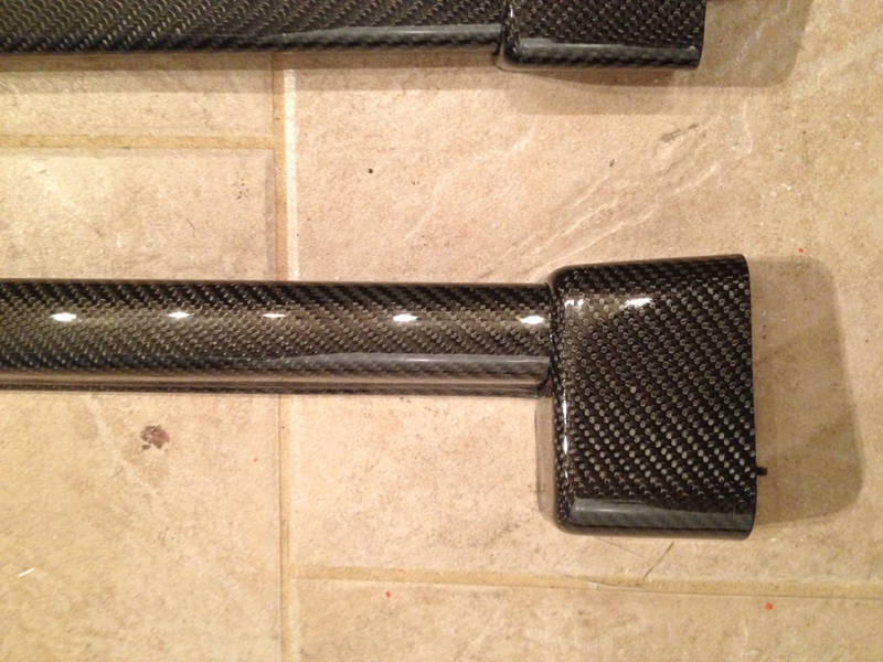 For sale carbon fiber pinch covers and bolster end caps