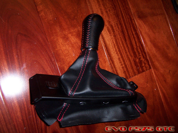 Itr Type R Red Stitched Black Leather Shift Knob And Boot